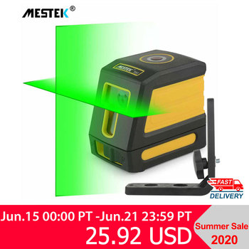 цена на Laser Level Self-Leveling Horizontal and Vertical Cross Line Red/Green Beam Portable Mini Level Meter nivel laser 360 Two Line