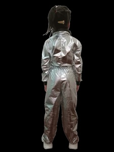 Image 5 - Halloween Silver Pilot Astronaut Alien Spaceman Cosplay Costume Carnival Party Couple One Piece Jumpsuit