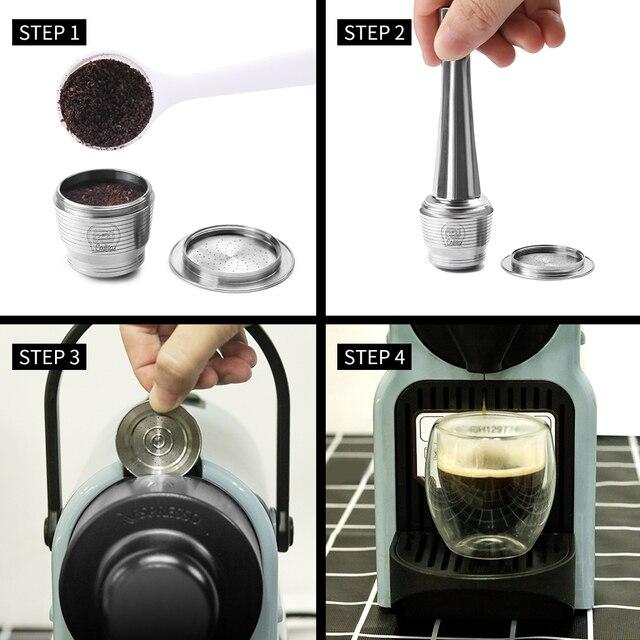 ICafilas Link Vip Per Nespresso Riutilizzabile Caffè Capsule Pod Espresso In Acciaio inossidabile filtri di Caffè e di Manomissione del Commercio All'ingrosso 3