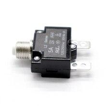 5 ампер кнопочный выключатель с алюминиевой крышкой, 50В DC или 250 В переменного тока, крепления в 3/8 дюймов(10 мм) с круглыми отверстиями, прозрачная пуговица Кепки