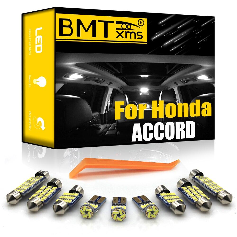BMTxms Canbus Honda Accord Sedan Coupe 1986-2020 için araç Led iç ışık plaka lambası araba ışıkları otomatik aksesuarları