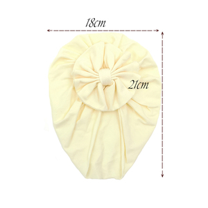 Image 5 - Turban Baby Girls Hats Knot Beanie Headband For Children Headwraps Donut Bonnet Toddler Baby Hats Photography Props KIDOCHEESE