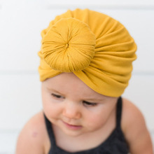 Sweet Candy Multicolor Baby Girl Toddler Turban Cap Elastic Beanie Hats Headwear Infant Newborns Photo Props Birthday Gifts