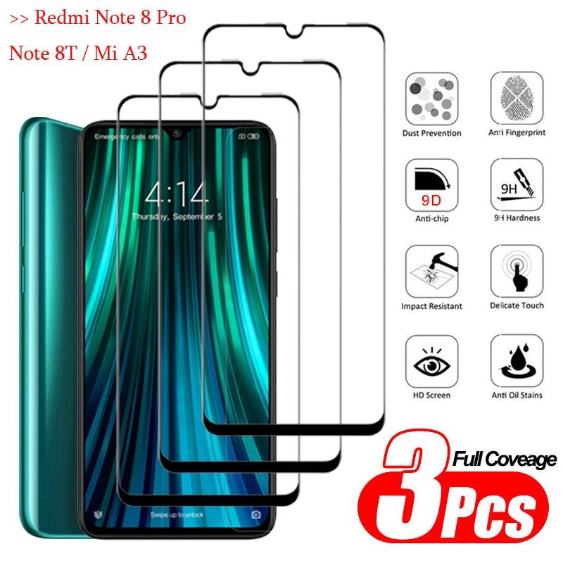 1-3Pcs Full Cover protector,Glasses Redmi Note 8 Back Armor Glass redmi note 8 t xiomi a3 Clear GlassFilm mia 3 xiaomi note8pro(China)