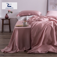 Liv Esthete 100% Natural Silk 25 Momme Duvet Cover Flat Sheet Bed Linen Set Home Decor Luxury Bedding Set Double Queen King