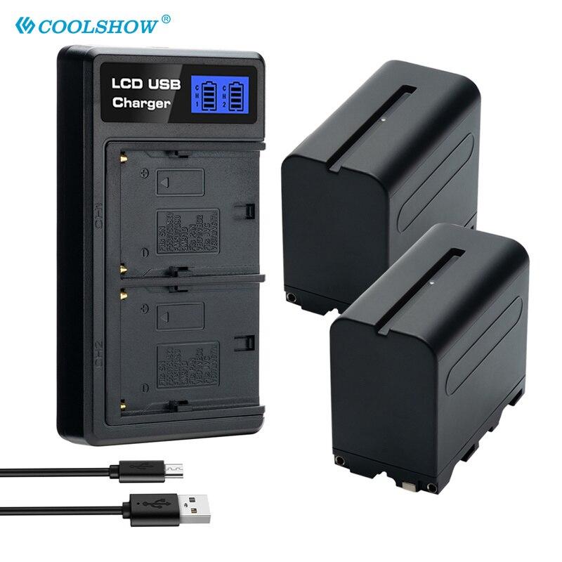 NP-F970 NP-F930 NP-F950 NP-F960 Batterie pour Appareil Photo Sony F330 F530 F570 F730 F750 F770 F970 SC55 TR87 Rechargeable Li-ion Bateria