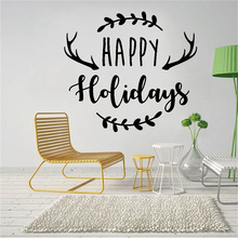 Wall Decal Happy Holidays Merry Christmas Wall Stickers Art Mural Creative Design Home Decor Kids Bedroom Poster