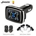 Jansite Auto TPMS Tire Pressure Monitoring System Sensoren Zigarette Leichter USB port Auto Sicherheit Alarm Systeme Reifen Druck-in Reifendruck-Alarm aus Kraftfahrzeuge und Motorräder bei