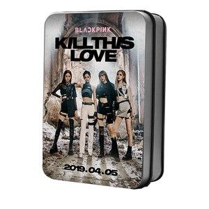 Kpop Blackpink мини-альбом 2 KILL THIS LOVE Lomo Polaroid Фотокарта вентиляторы металлическая подарочная коробка 40 шт коллекционные карты Прямая поставка