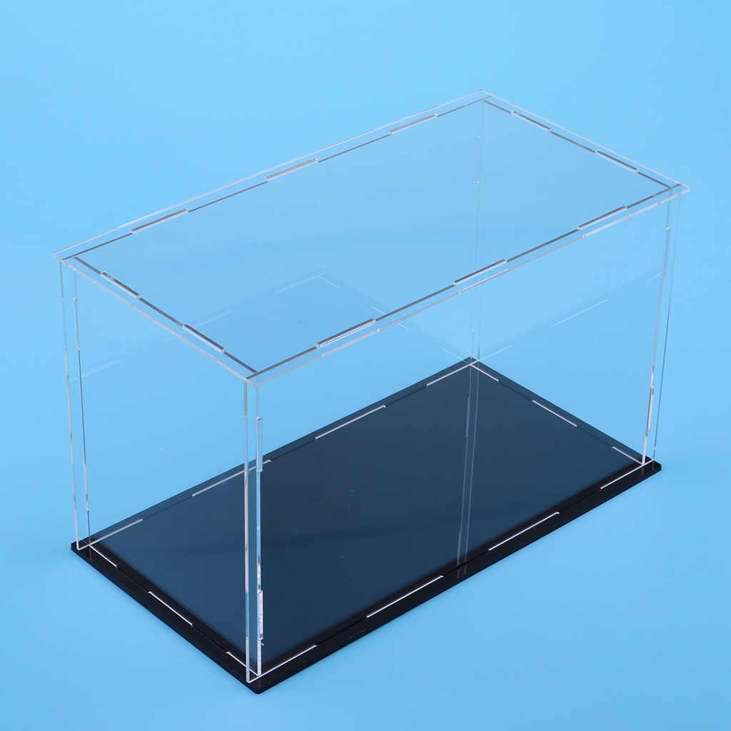 Acrylic Display Case Dustproof Model Figures Protection Box 20x10x10cm