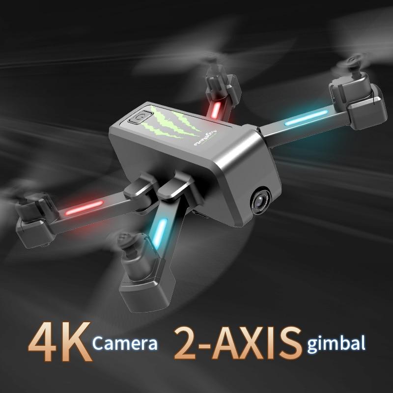 2020 nowy H5 RC Drone z kamerą 4K Wifi FPV przepływ optyczny podwójny aparat składany Quadcopter Drone stabilizacja Gimbal 50X Zoom