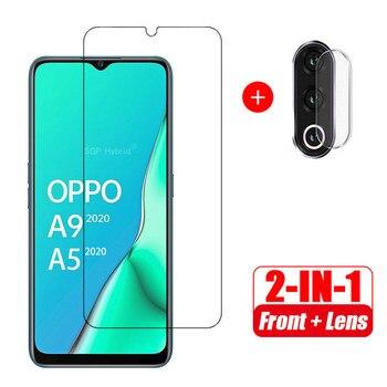 Перейти на Алиэкспресс и купить 2 в 1 защита экрана из закаленного стекла + Защитное стекло для камеры для oppo A9 2020 A5 2020 oppo a9 a5 2020 6,5 дюйма Стекло