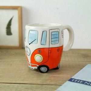 Image 4 - 英国手塗装セラミックカップクリエイティブ漫画バスカップ人格レトロ車マグ朝食ミルクコーヒー子供のギフトカップ