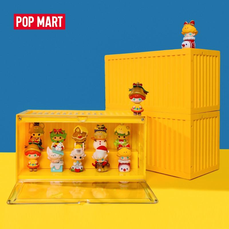 POP MART прямоугольный светящийся Контейнер для игрушек фигурка дисплей 35 см x 19 см x 17 см