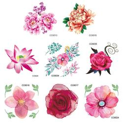 Personalized Tattoo Stickers Flower Tattoo Waterproof And Environmental Protectio Pattern Not Reflective No Harm To The Skin