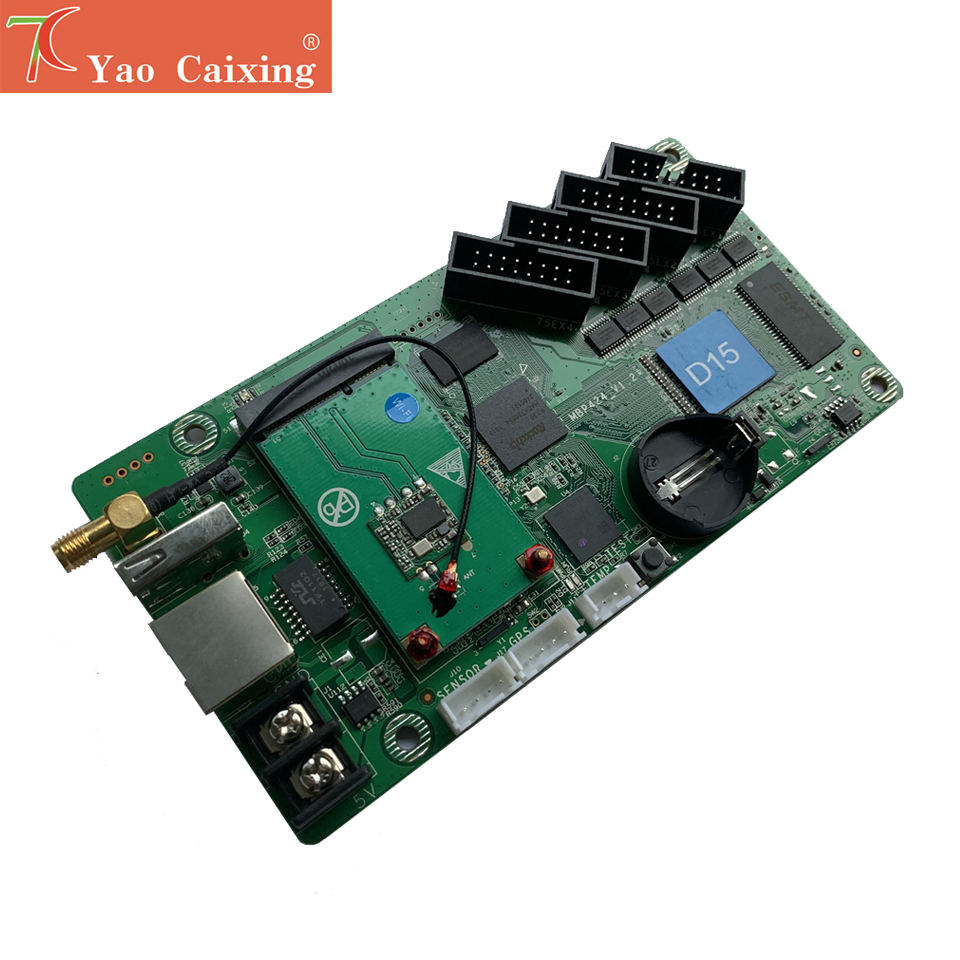 Wifi Function HD-D10/D15 Controller Asynchronous Control Card P2 P2.5 P3 P4 P5 P6 P8 P10 Rgb Full Color Dot Matrix Led Screen