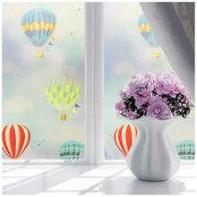 New-Bedroom Bathroom Home Waterproof Glass Window Privacy Film Sticker PVC Frosted hot air balloon(China)
