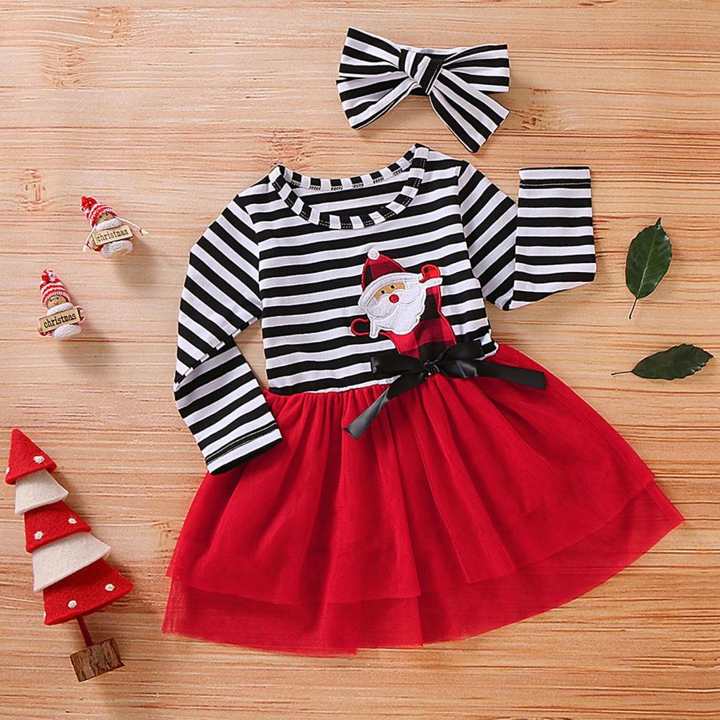 H1b429042bf0f4c379394a86ad4d8d854L Toddler Girls Christmas Dress Santa Striped Print Tulle Dress+Headband Outfits Christmas Kids Dresses For Girls Vestido Infantil