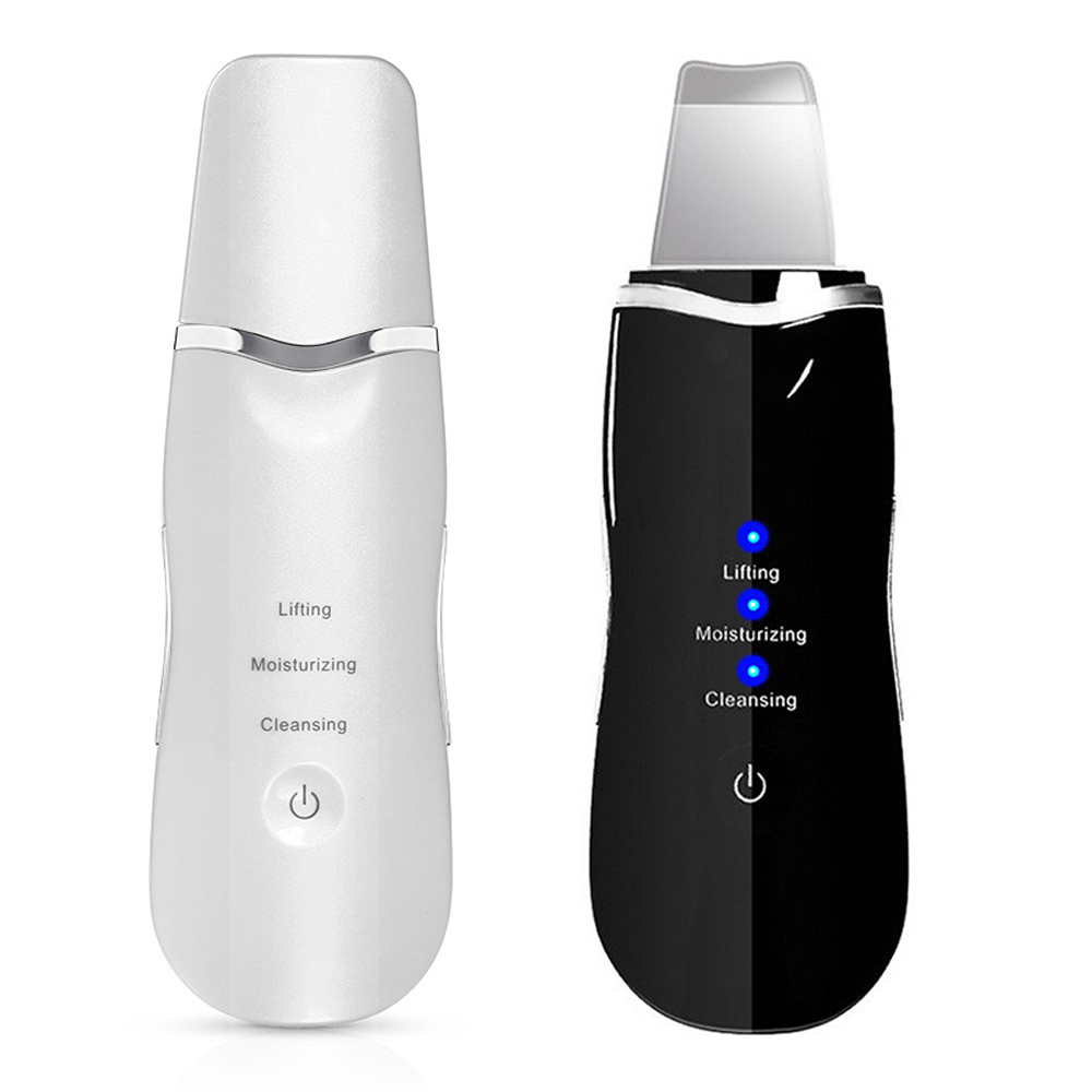 7 Style Ultrasonic Skin Scrubber Cleanser Blackhead Removal Face Scrubber Face Beauty Apparatus ABS White Remove Skin Care Clean