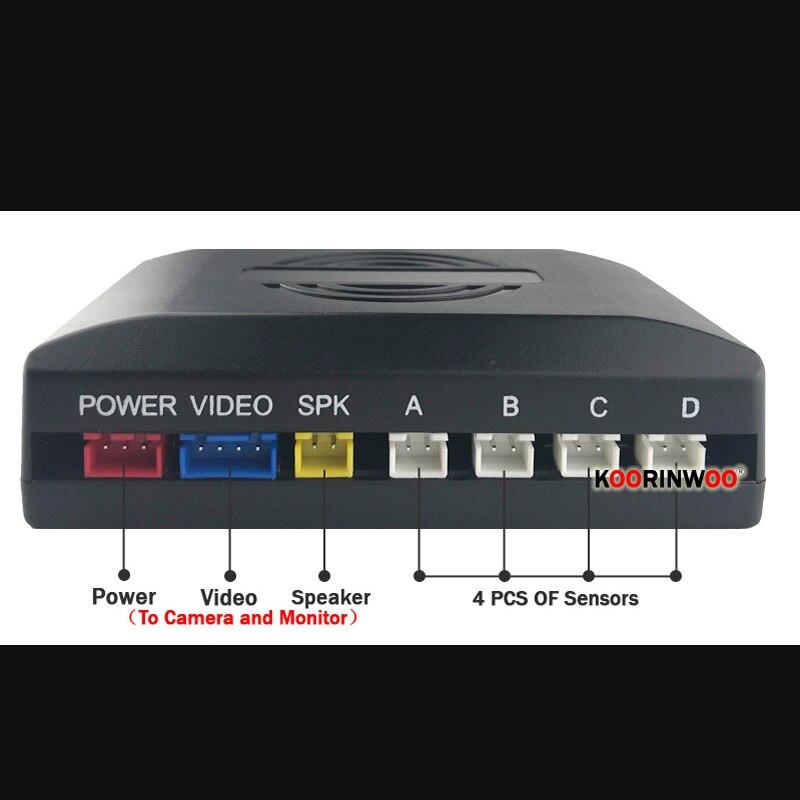 Koorinwoo dla Sony HD 4.3/5 Cal lustro Monitor z samochodu czujniki parkowania 4 Radar zestaw dźwięków krok w górę kamera tylna czarny biały Park