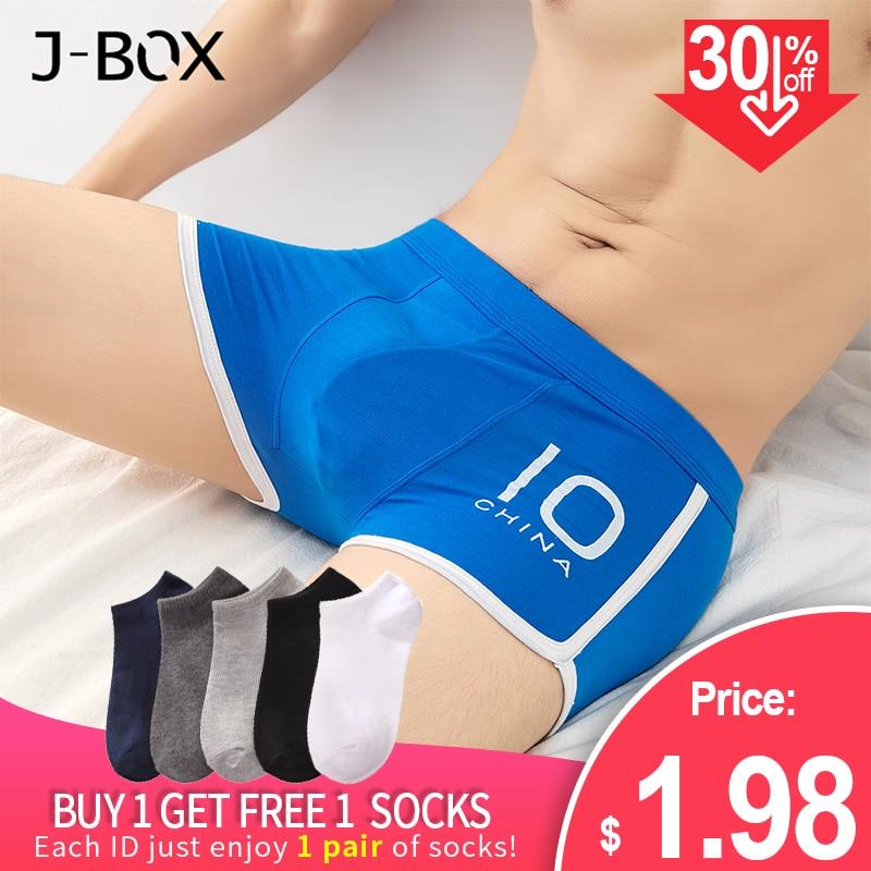 J-BOX 1-4Pcs Men AAA Antibacterial Boxer Sexy Mesh Underwear Shorts Soft Cotton Boxers Male Plus Size Fat Guy Panties Clothing