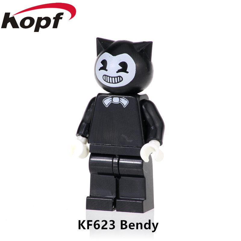 KF623 Single Brick Learning Bendy And The Ink Machine Figures Action Bendy Action Figures Building Blocks For Kids Gift Best Toy