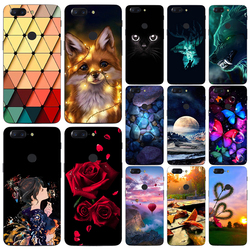 Cartoon Print Soft TPU Phone Case Cover For One Plus Oneplus 1+ 5T 5 T A5010 3 A3000 2 A2001 1 A0001 X Fundas Phone Case Cover