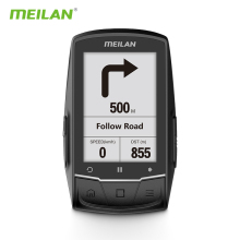 Meilan M1 Bike GPS bicycle Computer GPS Navigation BLE4.0 speedometer Connect with Cadence/HR Monitor/Power meter (not include)