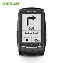Велокомпьютер Meilan M1, GPS навигация, спидометр BLE4.0, подключение к монитору частоты вращения педалей/ч, измеритель мощности (не входит в комплект)