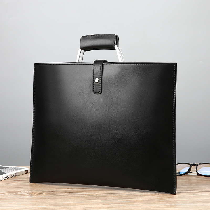 Men's And Women's Briefcase Business Handbags New Professional Fashion Korean Style Simple Wild A4 File Package