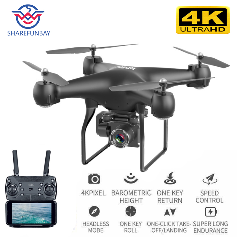 Drone HD 4k WiFi 1080p fpv drone flight 20 minutes control distance 150m quadcopter drone with camera(China)