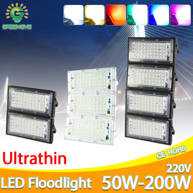 LED מבול אור 50W 100W 150W 200W הארה AC 220V 240V LED רחוב מנורה עמיד למים IP65 חיצוני תאורת led cob זרקור