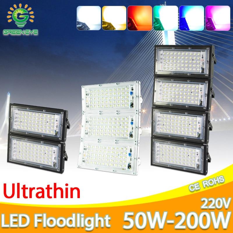 LED Luz de inundación 50W 100W 150W 200W reflector AC 220V 240V llevó la lámpara de calle impermeable IP65 iluminación exterior led cob proyector