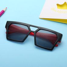 2020 брендовые Квадратные Солнцезащитные очки Детские Красочные
