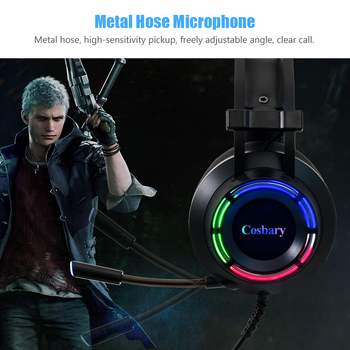 Cosbary Gaming headphone with Microphone USB Wired Earphone 7.1 Surround Sound Game Headset for PC PS4 Xbox One 3