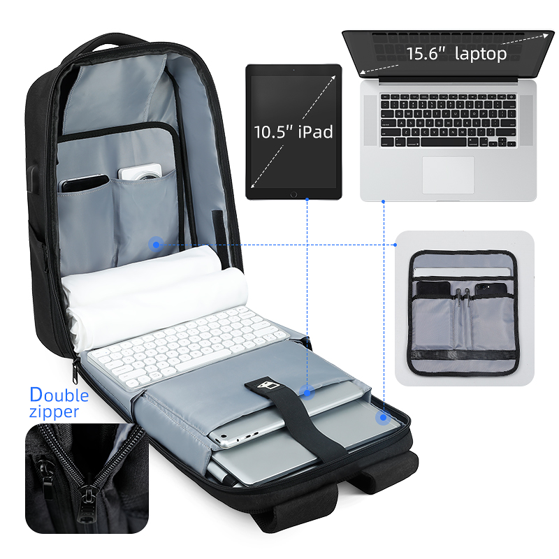 Mark Ryden nouveau Anti-voleur TSA serrure hommes sac à dos imperméable 15.6 pouces pochette d'ordinateur homme sac de voyage - 5