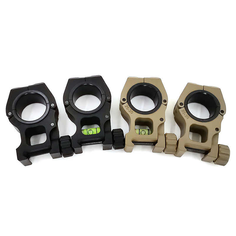 30mm 25.4mm M10 Mount Quick Afneembare Zaklamp Scope Laser Mount Met Waterpas 20mm Weaverer Rail Zwaluwstaart waterpas