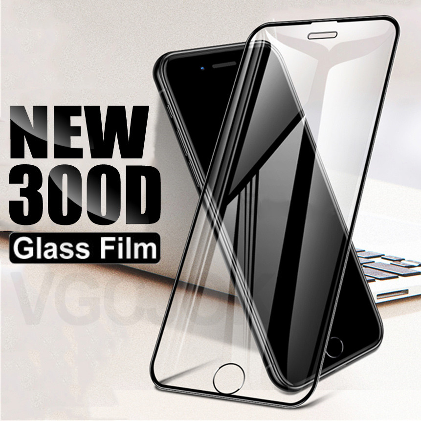 <font><b>300D</b></font> Curved Protective Glass For iPhone 11 Pro Xs Max X XR XS Tempered Screen Protector Glass on iPhone 6S 6 7 8 Plus Glass Film image