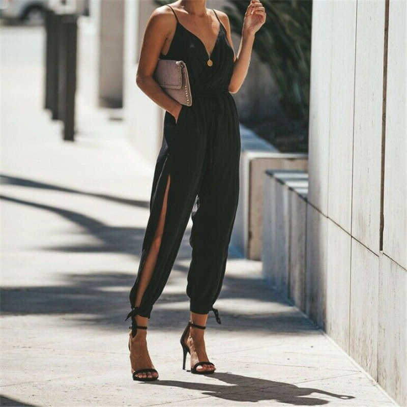 Frauen Sommer Urlaub Casual Ärmel Overalls Mode Damen Boho Floral Body Lose Lange Hose Hosen Overalls für Frauen