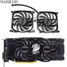 2 pçs/set CF-12915S P104-100 1070ti 1080ti gpu cartão refrigerador ventilador para inno3d geforce gtx 1070 1080 ti twin x2 placa gráfica
