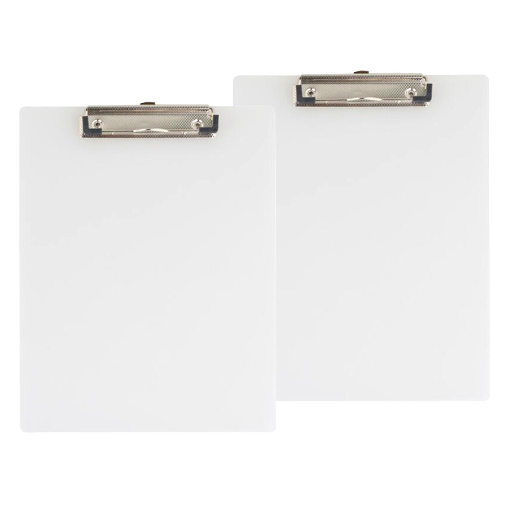 10PCS A4 Transparent File Folder Clip Clipboards Board Writing Pad Backing Board Plate Document Sorting Folder for Officer Schoo