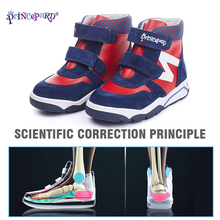 Princepard Winter Orthopedic Leather Shoes with Arch and Ankle Support  Toddler Little Kid baby orthopedic shoes senakers цена в Москве и Питере
