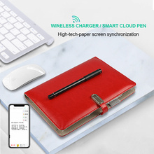 High-tech smart Pen Sync Lcd writing pad leather notebooks organizer A5 planners and notebooks with smart cloud pen