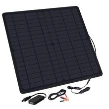 XINPUGUANG 12V 20W Solar Panel Charger USB 5V Output Cigarette Lighter Alligator Clip Charge for Cell Phone car Battery Power 2016 new alligator clamps auto charging battery clip car battery connection cable with cigarette lighter cord cover