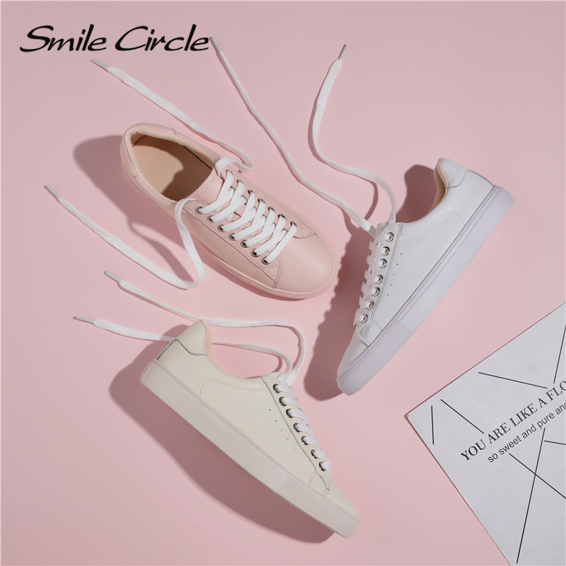 Smile Circle Sneakers Women Flats Shoes Spring Fashion Casual Comfortable Ladies Shoes big size 36-42