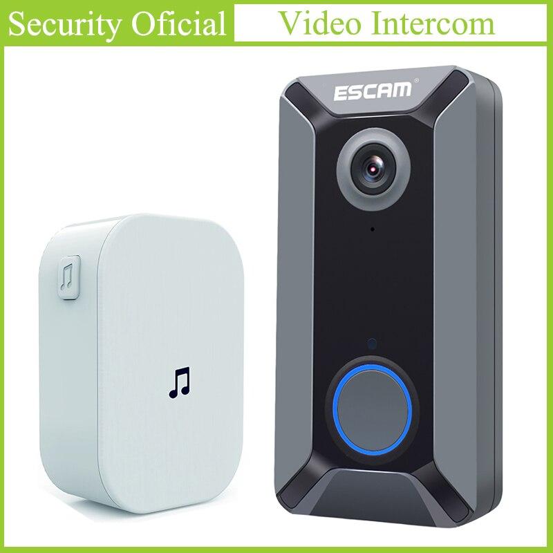 720P Night Vision Wireless Doorbell WIFI Video Door Phone Waterproof HD Wide Angle Video Camera Free Cloud Storage Home Security
