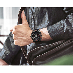 Image 4 - KADEMAN montre bracelet de luxe pour hommes à double affichage, numérique analogique, étanche, grand cadran, horloge de sport militaire