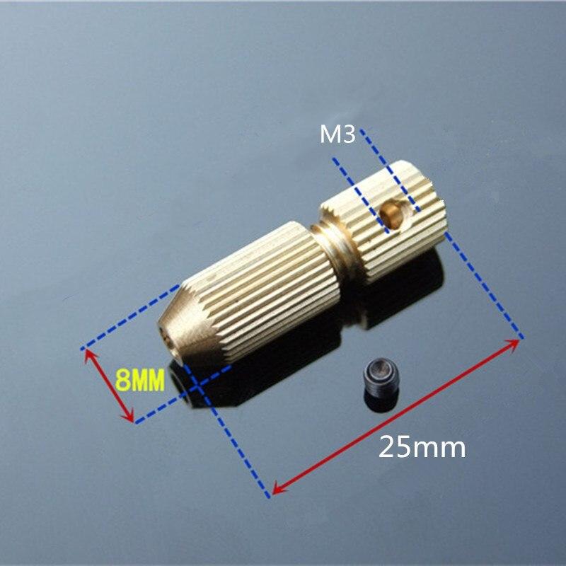 3.17mm Small Micro Drill Bit Clamp Fixture Brass Electric Motor Shaft Chuck Tool