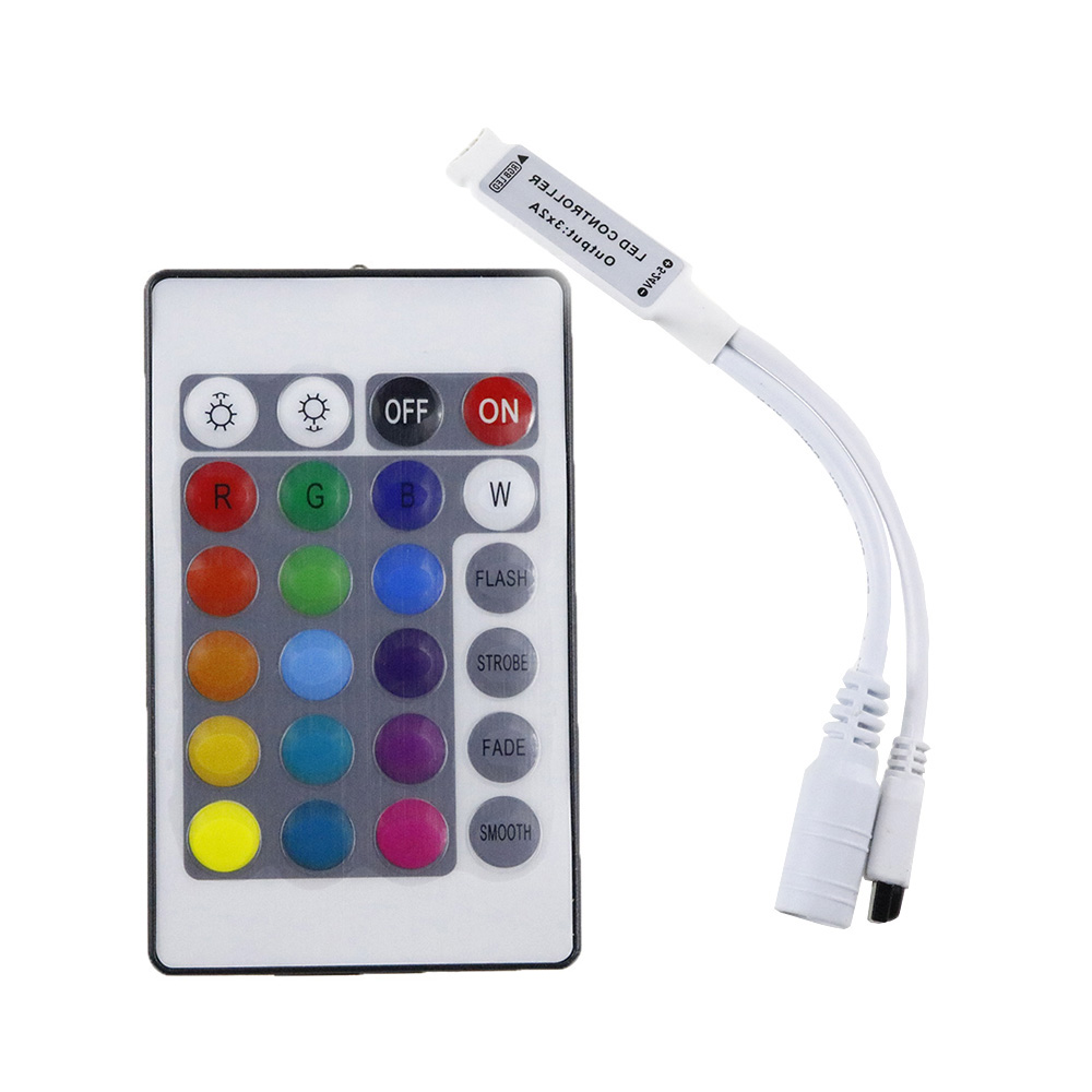 DC 12V RGB LED Controller Mini 24 Keys RGB IR Remote Controller For 3528 Or 5050 RGB LED Strips