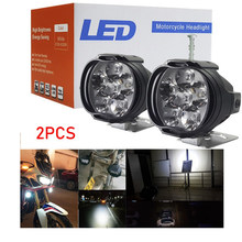 2PCS Motorcycle spotlights car headlights fog lamp universal scooter LED lights(China)